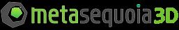 Logo Metasequoia 3D